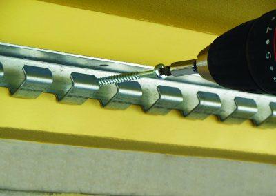 Rail fixing